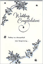 Wedding Card Hallmark New Beginning