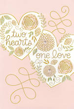 Wedding Card Hallmark Two Hearts