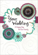 Wedding Card Hallmark Embossed Floral
