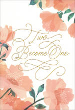 Wedding Card Hallmark Two Become One