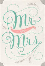Wedding Card Hallmark Mr And Mrs