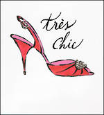 Blank Card Female Jadore Tres Chic Red Shoe