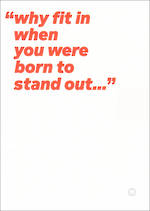 Quotecards Born To Stand Out