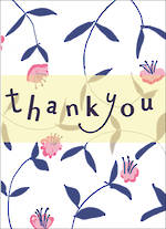 Mini Card Thank You Floral