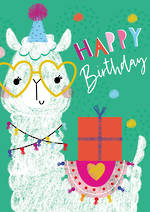 Artbox Birthday Llama With Present