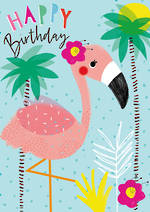 Artbox Birthday Flamingo