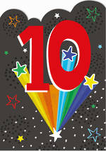 Birthday Age Card 10 Boy Artbox Rainbow