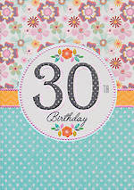 Birthday Age Card 30 Female Entwine