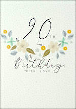 Birthday Age Card 90 Female Halcyon