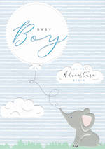 Baby Card Halcyon Boy Elephant
