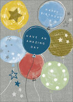 Birthday Card Teen Male Halcyon Balloon