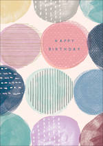 Birthday Card Teen Female Halcyon Circles