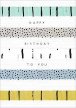 Birthday Card Male Halcyon Stripes