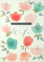 Wife Birthday Card Halcyon Flowers