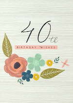 Birthday Age Card 40 Female Halcyon