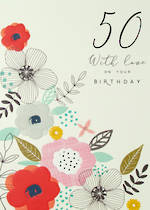 Birthday Age Card 50 Female Halcyon