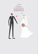 Wedding Card Little People Happy Couple