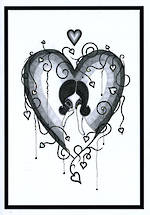 Blank Card Art Lillibet Love Heart