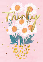 Birthday Age Card 30 Female Louise Tiler