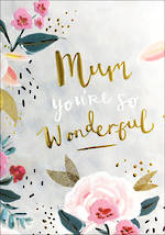 Mum Birthday Card Sweet & Simple Wonderful