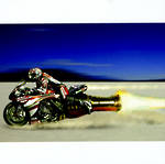 Blank Card Photographic Life in the Fast Lane Rocket Bike