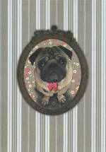 Lucie Faire Mirror Pug Dog