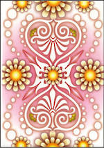 Blank Card General Catalina Pink White Yellow