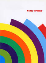 Blank Card General Technique Rainbow Birthday