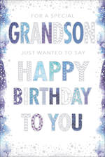 Grandson Birthday Card Pizazz For Men