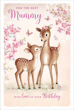 Mum Birthday Card Mummy Large Deer