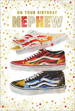 Nephew Birthday Card Pizazz For Men Shoe