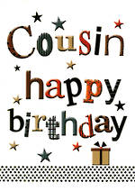 Cousin Birthday Card Happy Words