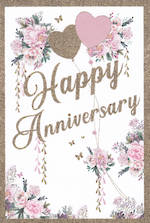Anniversary Card Pizazz Floral