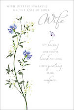 Sympathy Card Loss Of Wife Flower Spray