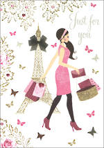 Mini Card Pizazz Lady In Paris