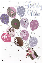 Mini Card Pizazz Birthday Balloons