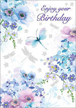 Mini Card Pizazz Birthday Dragonflies