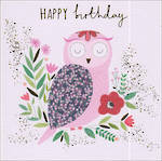 Mulberry Happy Birthday Owl