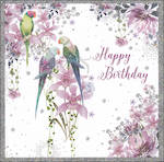 Pizazz Square Bird Happy Birthday