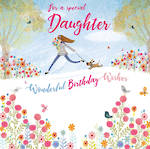 Daughter Birthday Card Over The Rainbow Special Daughter