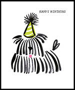 Doodle Birthday Dog With Party Hat