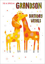 Grandson Birthday Card Giraffes