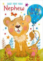 Nephew Birthday Card Cute Lion