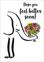 Get Well Card Doodle Elephant