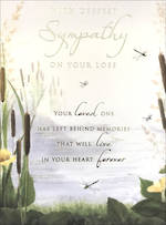 Sympathy Card Lake Cattails