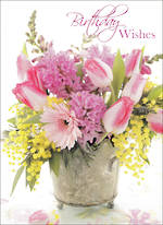 Birthday Wishes Pink Tulips