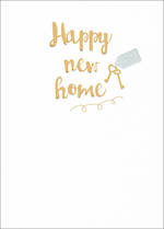 New Home Card Special Occasions Gold Keys