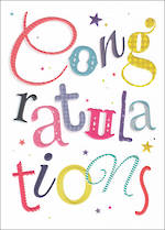 Congratulations Card Special Occasions