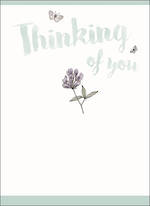 Sympathy Card Thinking Of You Flower