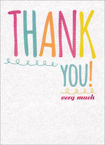 Thank You Card Special Occasions Glitter